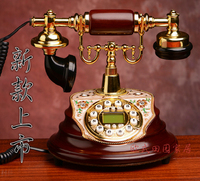Fashion European antique antique villa wired telephone new old telephone landline Decoration home classical ID backlit phone