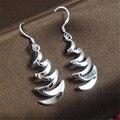 Большая распродажа Ювелирных Изделий Серебряные Серьги Моды Серьги для Женщин Pendientes E024