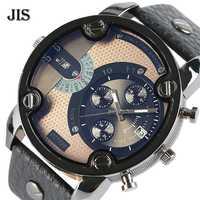 Fashion JIS Large Size Big Men Watch Harajuku Unique Blue Ray Quartz Wristwatch Military Aviator Sports Men's Clock Relogio 2018