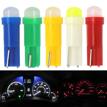 20pcs T5 1 led smd Ceramic Dashboard Gauge Instrument Ceramic Car Auto Side Wedge Light Lamp 73 74 79 85 86 COB LED Bulb DC12V