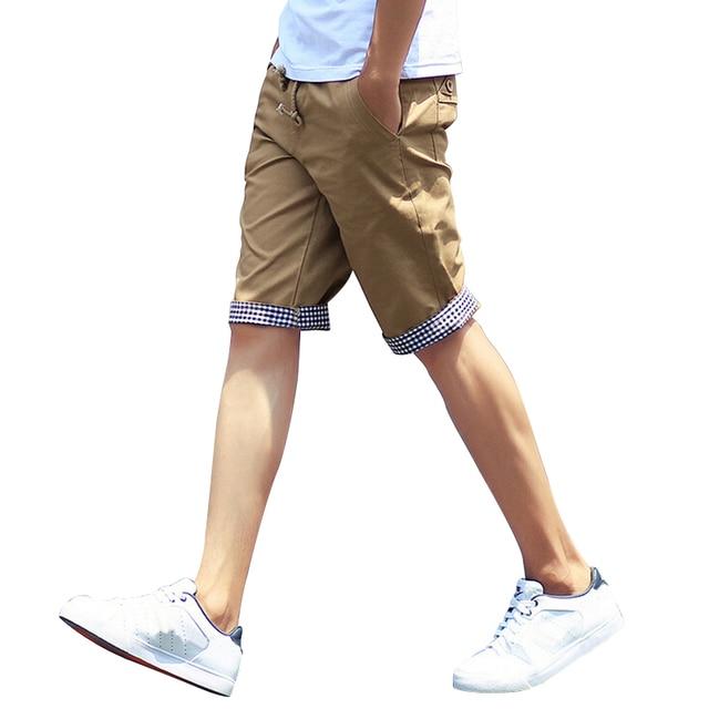 2017 New Summer Style Men Shorts Men Casual Shorts Solid Straight Boardshorts Beach Mens Shorts Brand clothes