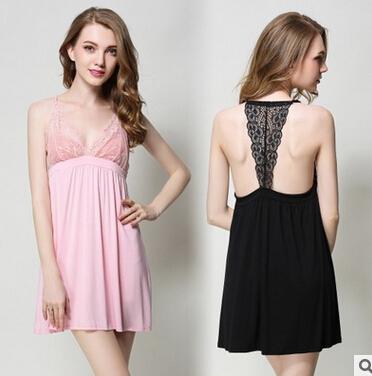 2016 de Alta calidad de algodón mujeres resbalones de verano caliente sexy ropa de dormir de encaje señoras correa slips