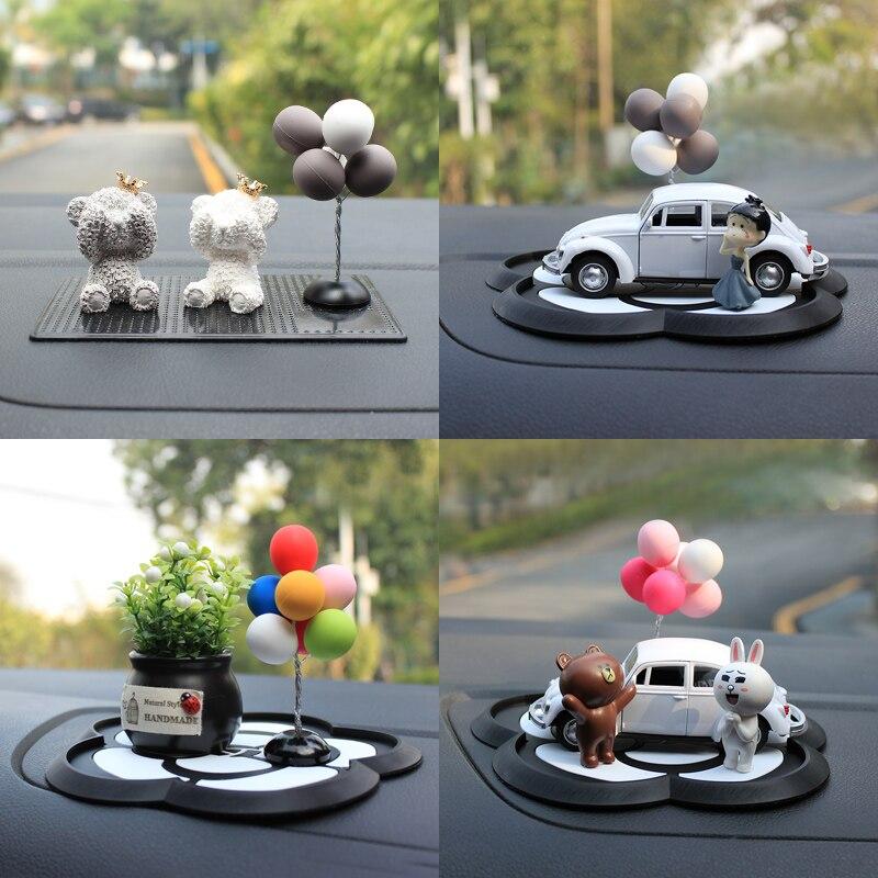 Coloré Ballons Belle Mini Décoration De Voiture Intérieur Mode de Nettoyage tableau de Bord Du Véhicule Ornement Femelle Poupée Smart Fortwo Forfour