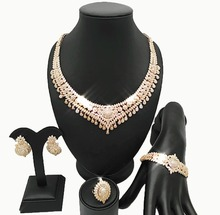 REAL GOLD 18K for wedding african jewelry sets african beads jewelry set wholesale african jewelry sets women necklace
