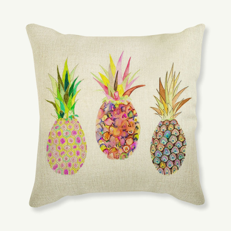 Flamingo Customized Cushion Covers Pineapple Flower Birds Custom Pillows Cover 16 Styles Geometric Baby Sofa Decoration Gift