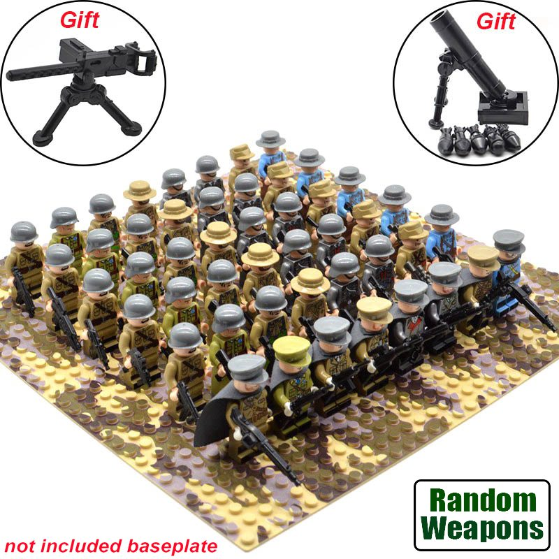 21pcs//set WW2 Blocks Soviet Toys Soldiers Army of Russia Troops Military  Fit L
