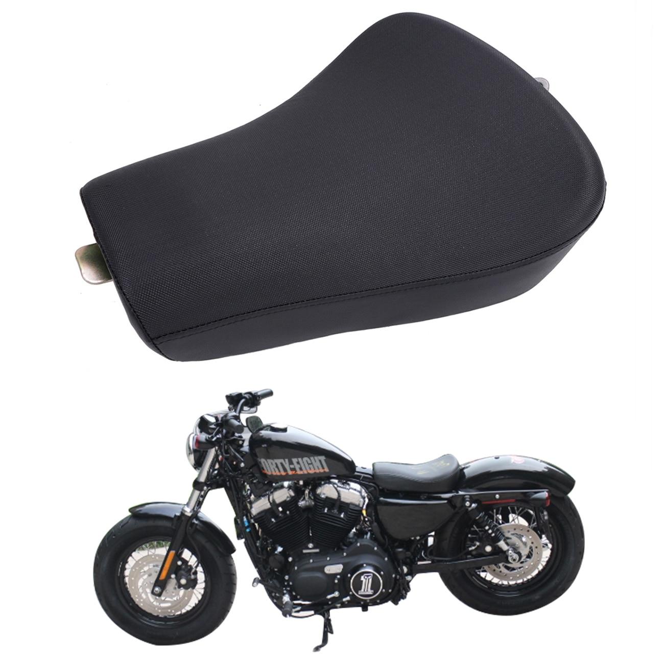 Φ_ΦFront driver solo asiento Cojines cuero Almohadas para Harley ...