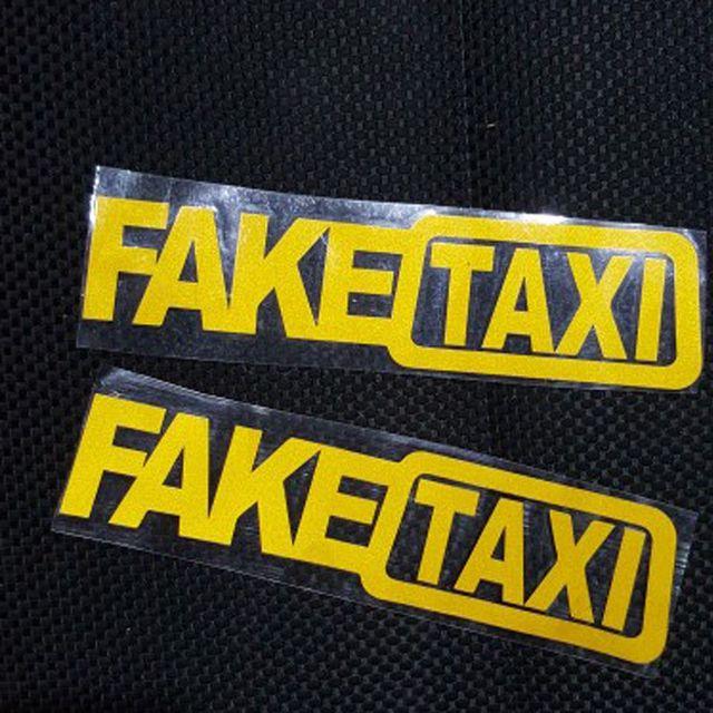 1 Pcs Universal Car Sticker Fake Taxi Jdm Drift Turbo Hoon Race Auto Funny Vinyl Decal