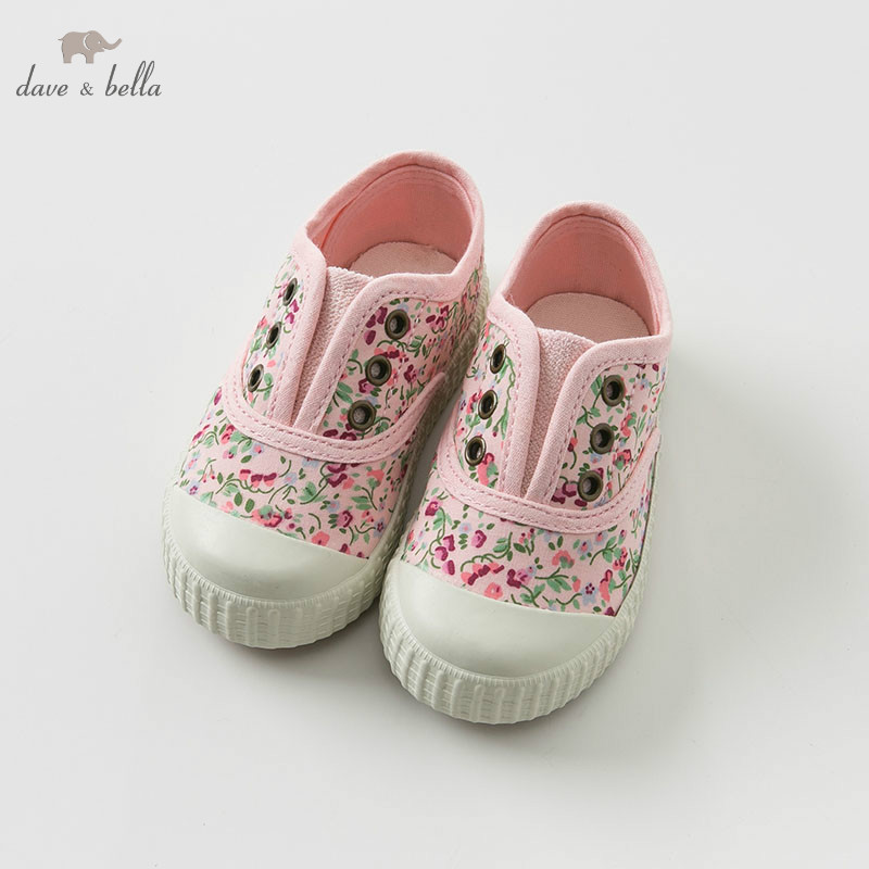 DB10252 Dave Bella spring baby girl canvas shoes new born girl casual shoes floral shoesDB10252 Dave Bella spring baby girl canvas shoes new born girl casual shoes floral shoes