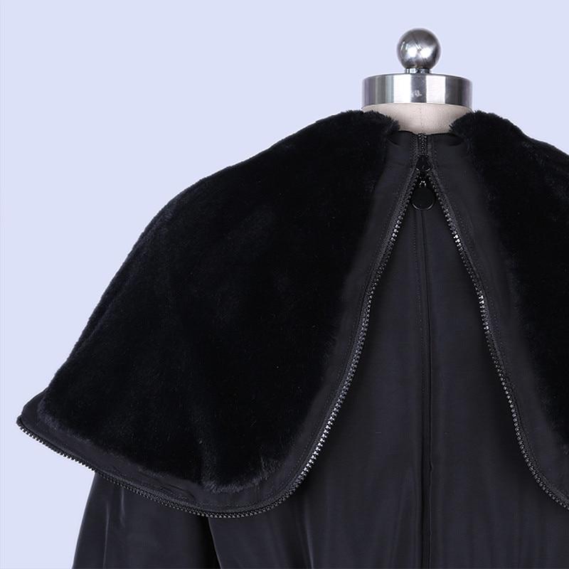 Solapa grande Chaqueta de Invierno de Las Mujeres Capa de La Cintura Delgada Fem