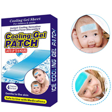 8pcs=2 Boxes Herbal Cooling Fever Plaster Gel Patch for Adult and Children Baby Pad Pain Relief 5*12cm