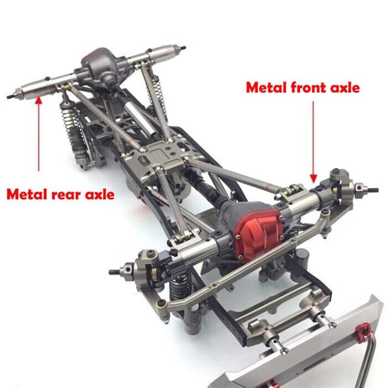 1 PC haut de gamme alliage métallique aluminium 1/10 RC chenille voiture entièrement alliage essieux arrière pour Wraith 90018 90048 90053 Axial livraison gratuite