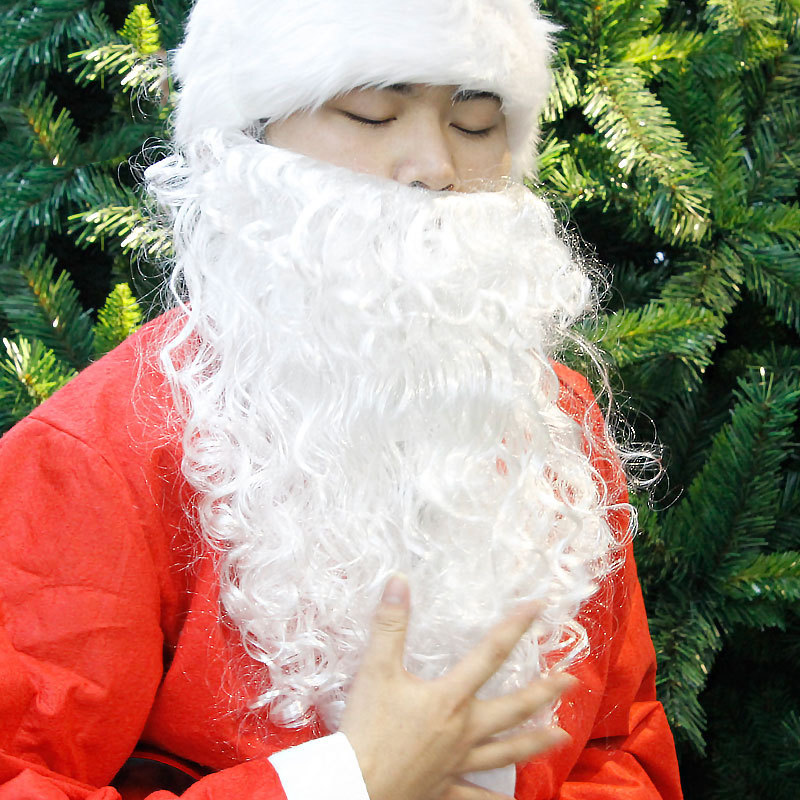 Curly Santa Claus Beard Kid Adult Cosplay Costume Prop Christmas Fancy Dress Party Accessory Christmas Decoration Prop