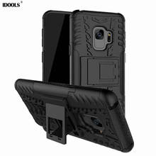 hot deal buy idools case for samsung galaxy s9 back cover pc hard with kickstand phone bags cases for samsung galaxy s9 sm-s9 5.77 inch coque