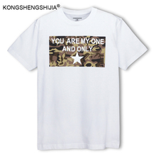 Men clothing 2017 fashion camouflage printed mens black white t shirt shorts print 100% cotton loose rock summer t-shirt CF11360