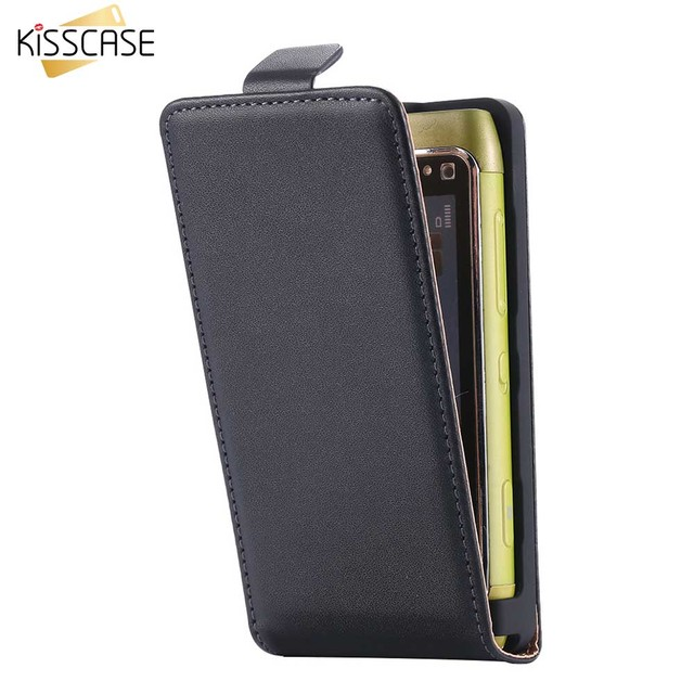 the best attitude fa829 eede0 US $4.82 |KISSCASE Genuine Leather Case For Nokia N8 Classic Korean Style  Vertical Flip Cover For Nokia N8 Full Protect Leather Case Shell-in Flip ...