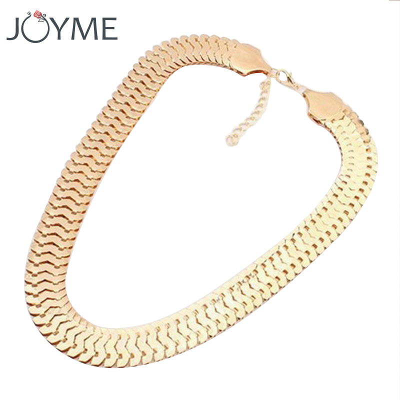 2016 New Fashion Women Gold Color Chunky Chain Necklace