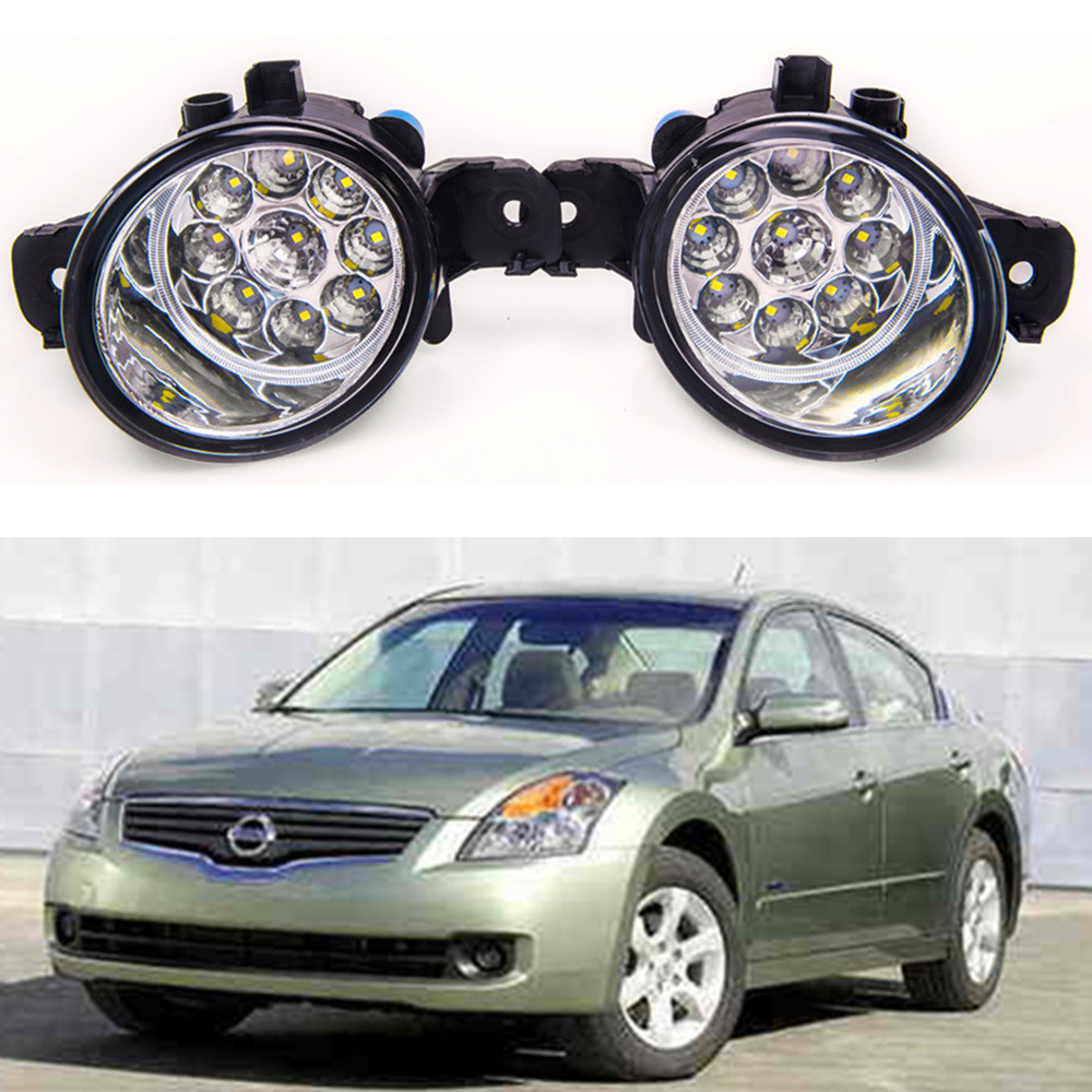 For NISSAN Altima 2008-2014 Car styling LED fog Lights high brightness fog lamps 1set for lexus rx gyl1 ggl15 agl10 450h awd 350 awd 2008 2013 car styling led fog lights high brightness fog lamps 1set