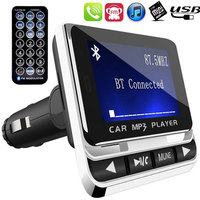 Vehemo LCD Screen 1 4 Inches Portable Compact MP3 Player Handsfree Calls TF Car MP3 FM