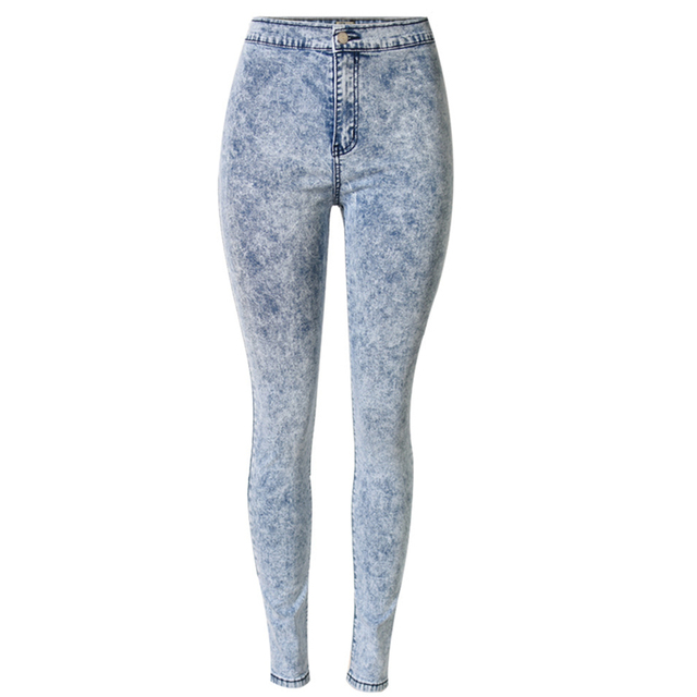95bf47e80a4f Fashion Snow Wash Tie Dye jeans woman Pencil Pants jeans for women jeans  elastic mujer femme Skinny jean pants high waist