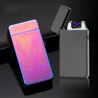 Classic Inovation Double Arc USB Lighter Windproof Electronic Plasma Lighters Rechargeable Cigarette Smoking Electric Lighter