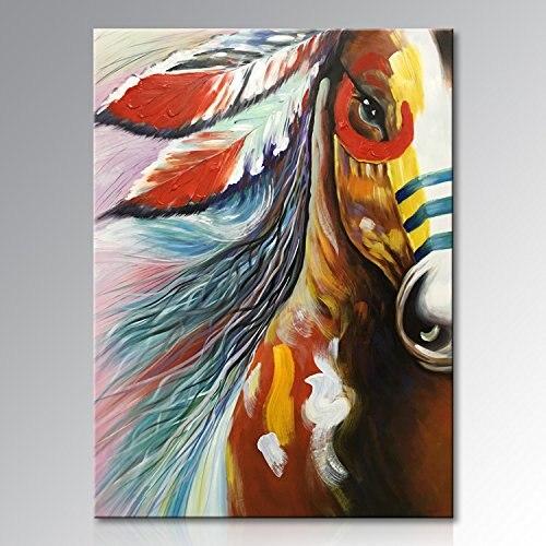 Art Peint À La Main Toile D'art de Mur à L'huile Abstraite de Cheval peinture Moderne Contemporain Illustrations Décoratives