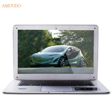 Amoudo-6C 8GB RAM+120GB SSD+750GB HDD 14inch 1920×1080 FHD Windows 7/10 Dual Disk Quad Core Ultrathin Laptop Notebook Computer