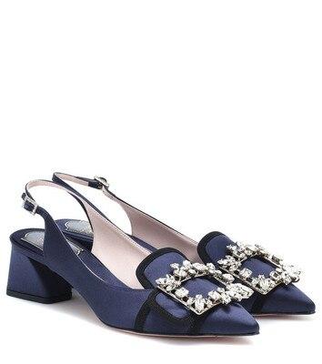 Kmeioo 2019 offre spéciale mode été chaussures femme bout pointu Med talons bijou sandales Slingback pompes cristal talons chaussures de mariage - 3