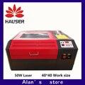 Envío gratuito 4040 Co2 máquina de grabado láser de la máquina de corte CNC grabador láser de marcado láser máquina de la máquina de talla