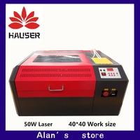 Freeshipping 4040 מכונת חריטת לייזר Co2 מכונה חותך חרט לייזר CNC, DIY לייזר מכונה סימון, מכונה גילוף
