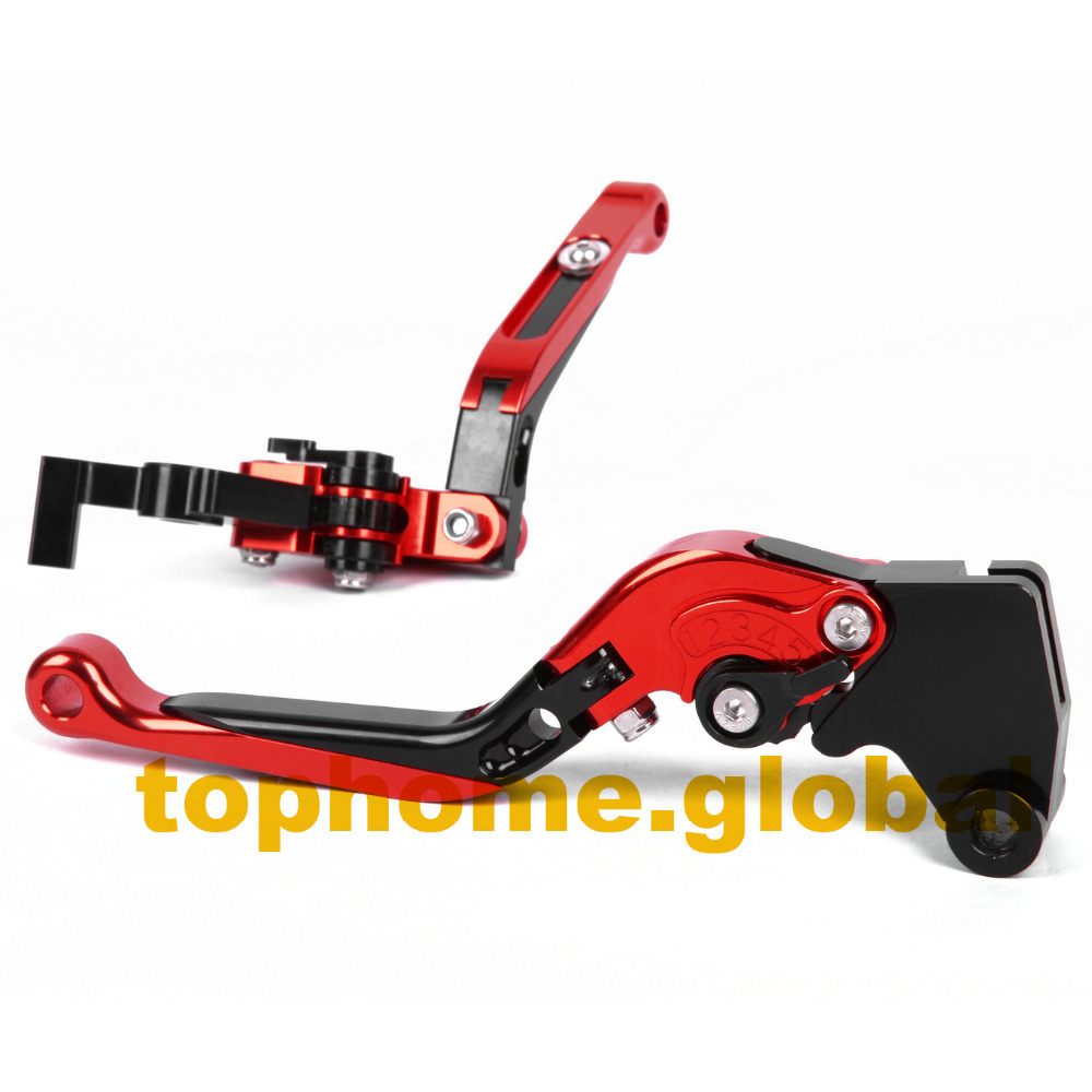 Motorbike Accessories CNC Foldable&Extendable Brake Clutch Levers For Honda PCX 125/150 All years orange motorbike foldable