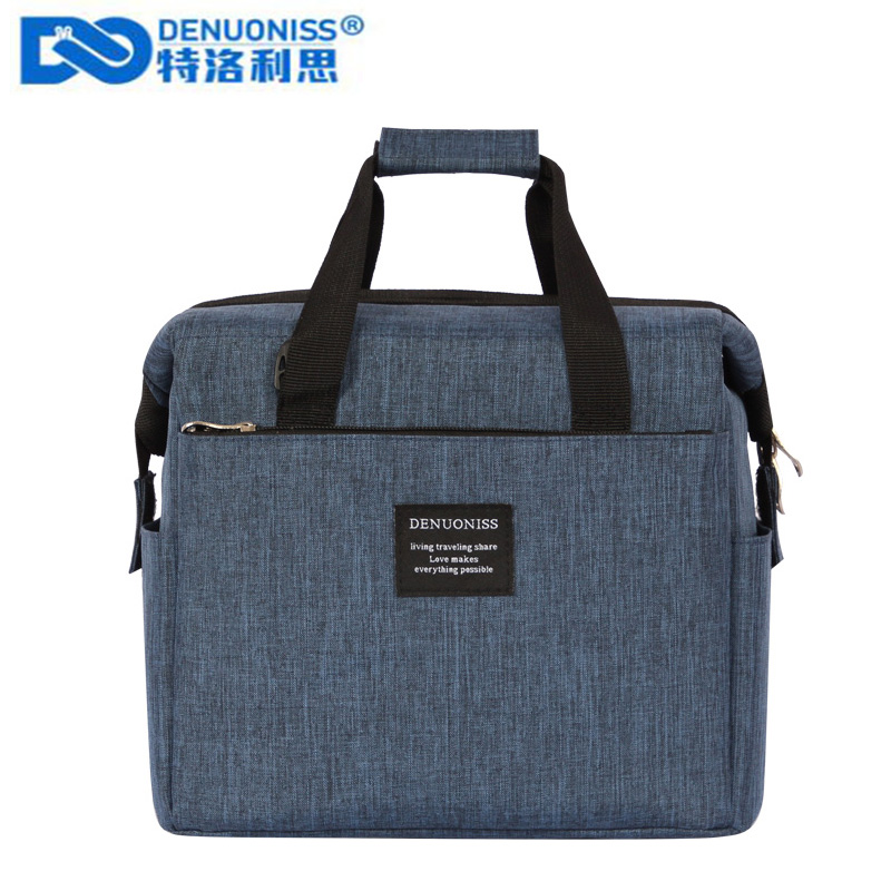 DENUONISS New 2019 Oxford Insulation Bag For Men Takeaway Shoulder Wine Cooler Bag Large Capacity Thermo Bag