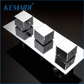 KEMAIDI Thermostatic 3 Ways Wall Mounted Bathroom Shower Mixing Valve Mixer Shower Faucets Valve Bath Shower Faucet Mixer Valve