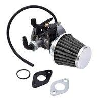 19mm PZ19 Hand Choke Carburetor Carb Intake Pipe Air Filter Fuel Filter 50cc 70cc 90cc 110cc