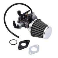 19mm PZ19 Hand Choke Carburetor Carb Intake Pipe Air Filter Fuel Filter 50cc 70cc 90cc 110cc