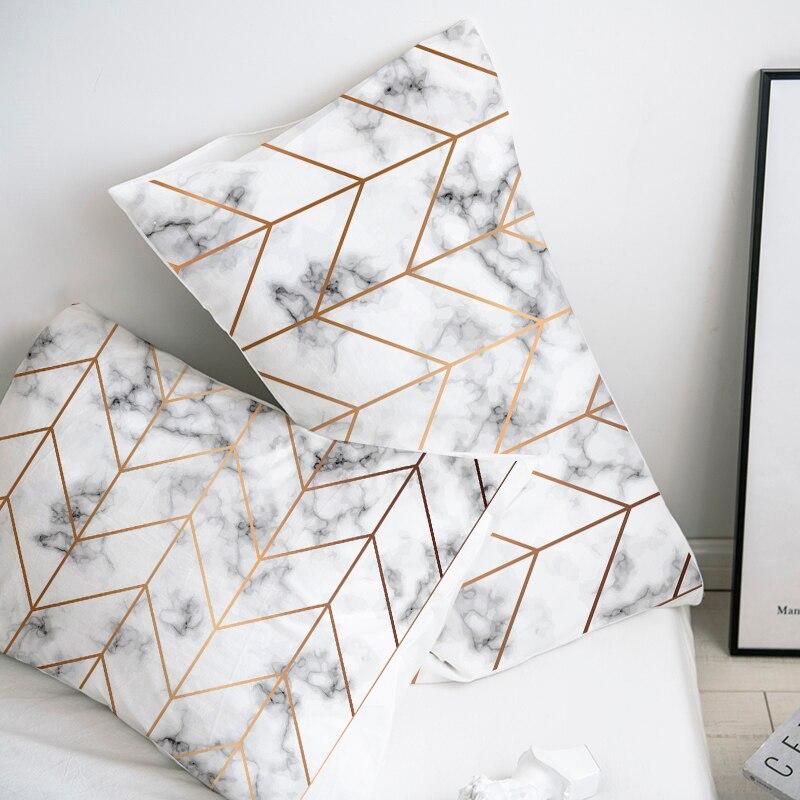 Custom Pillow Case Pillowcase 50x70 50x75 50x80 70x70 Decorative Pillow Cover Marble Bedding For Wedding Drop Shipping