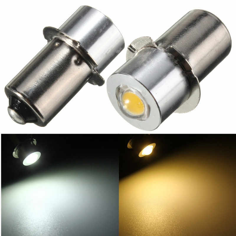 LED Light Flashlight Bulb For Interior Bike Torch Spot Lamp Bulb High Brightness P13.5S PR2 1W 90Lumen Warm/White DC3-18V/DC18V