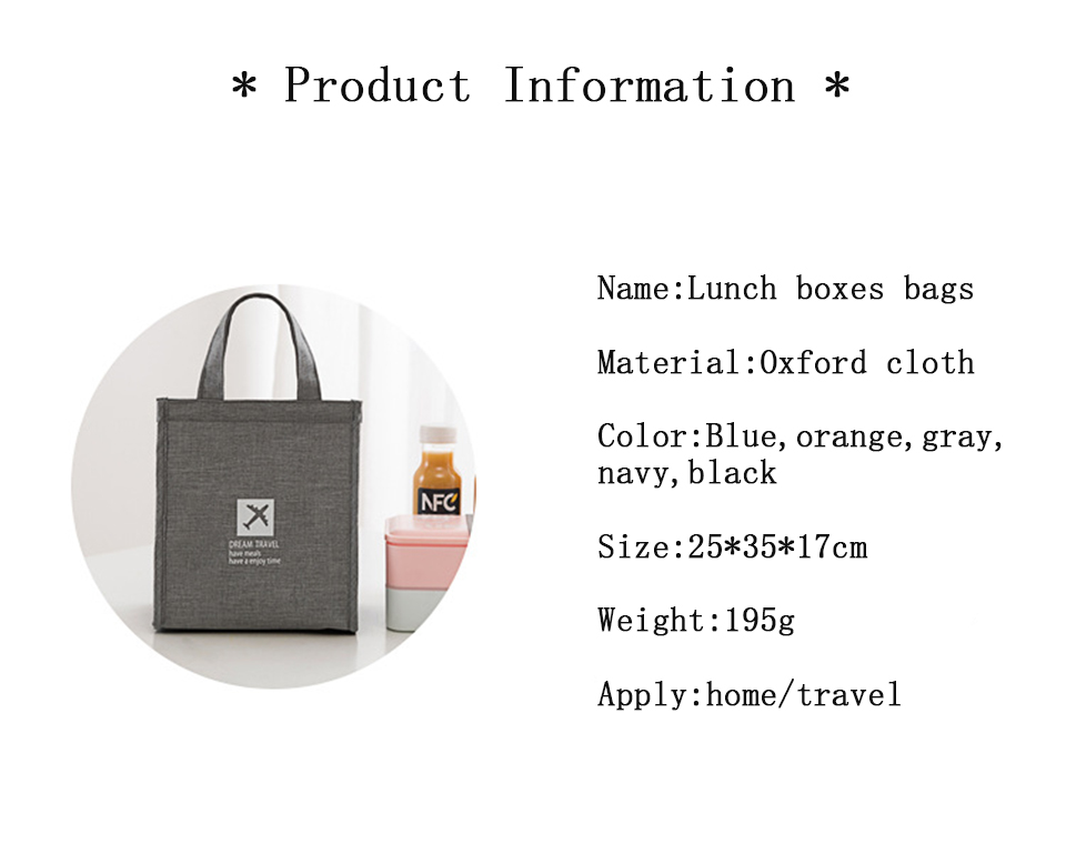 Portable Insulated Canvas lunch Bag Thermal Picnic Lunch Bags for Women kids Men Cooler Lunch Box Bag4