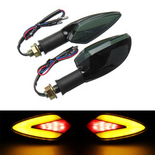 Racbox 2pcs Universal Motorcycle LED Turn Signal Light intermitentes moto Indicators Amber Blinker Accessories