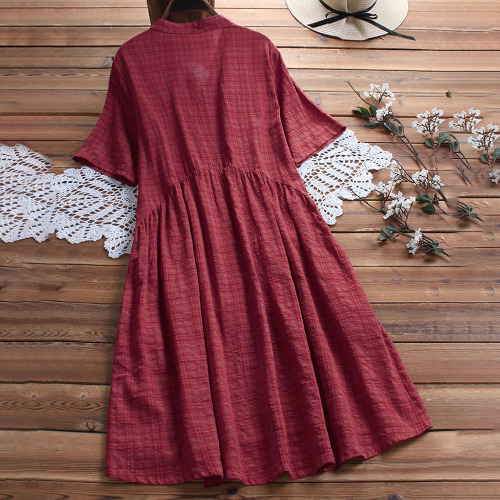 kleider damen Women vestidos femininos Vintage Casual O ...
