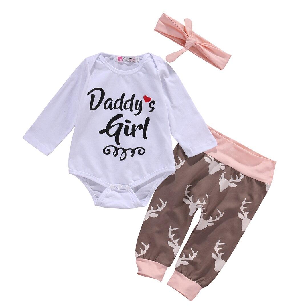 1e2f6582226 Newborn Infant Toddler Baby Girls Summer Jumpsuit Sunsuit Romper Pants  Headband 3PCS Playsuit Outfit R