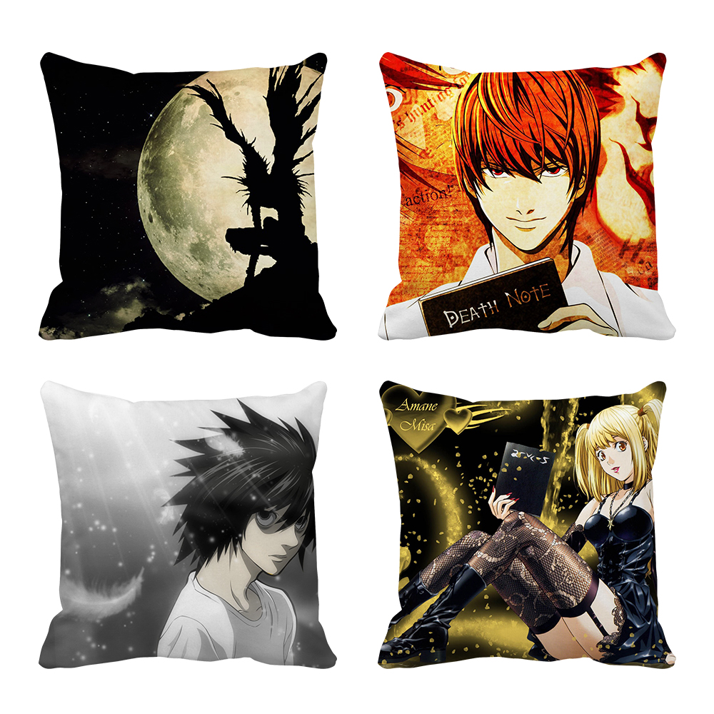 Death Note Anime Multi Size Throw Pillow Case Free Shipping