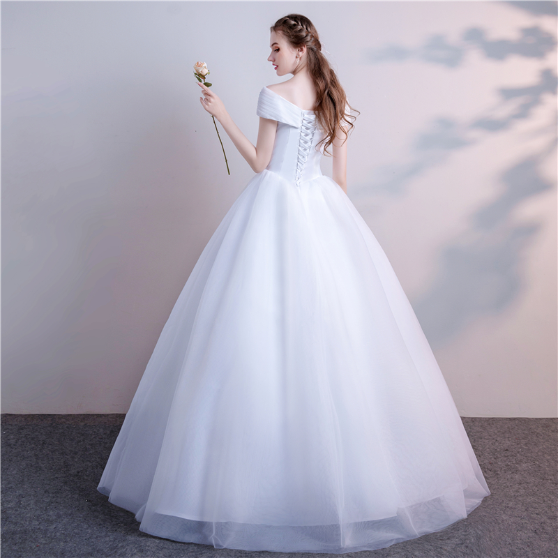 European And American Style Dream And Sweet Sleeveless Wedding Dress