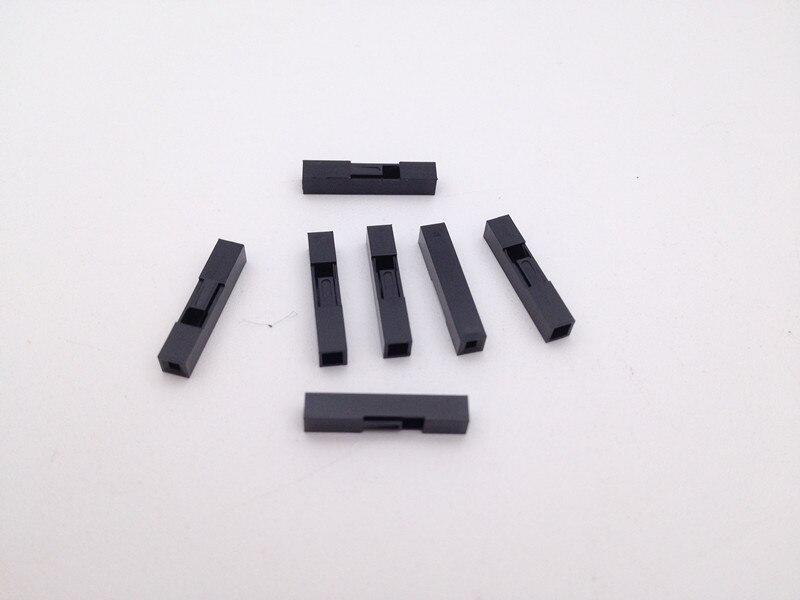 200 pces 1 p dupont jumper cabo de fio habitação plug pino fêmea terminal dupont escudo kit conector 2.54mm passo 1 furos cabeça espaçamento