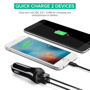 Image 4 - Ugreen Car Charger Quick Charge 3.0 USB Fast Charger for Xiaomi mi 9 iPhone X Xr 8 Huawei Samsung S9 S8 QC 3.0 USB Car Charger