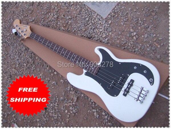 Guitare basse 4 cordes P avec 3 micros simples et pickguard noir livraison gratuite