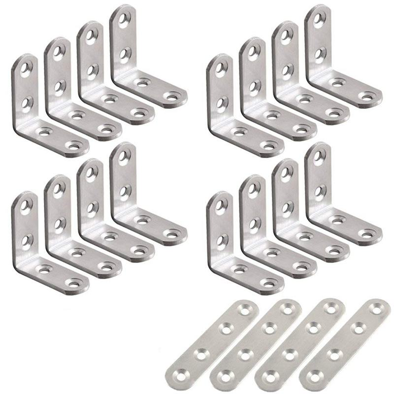 "6 Pk Steel Zinc Plated 2.5/"" Wide X 1.5/"" Long Double Wide Corner Brace N285-536"