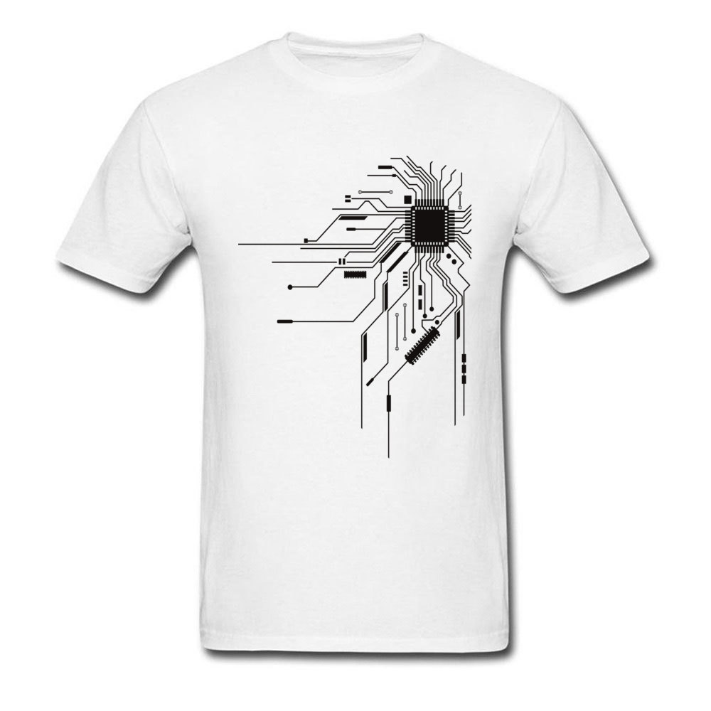 Computer IC Chip Engineers Developer New   T     Shirt   Print Image Cotton Tops   T  -  Shirts   Men Integrated Circuit Board High Quality Tees