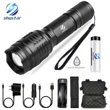 Powerful LED flashlight T6/L2 waterproof torch 5 lighting modes zoom flashlight Camping light  Used for night riding camping