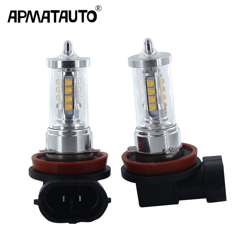 2x H8 H11 <font><b>LED</b></font> Bulb 9006 HB4 9005 HB3 H16(JP) Car <font><b>Fog</b></font> Lights 12V For <font><b>16</b></font> Sharp chips Daytime Running <font><b>Lamp</b></font> DRL Auto <font><b>Led</b></font> Light White image